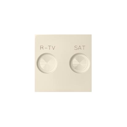 Abdeckung für  R-TV-SAT- Dose 2fach beige matt Kontakt Simon 82 82097-31