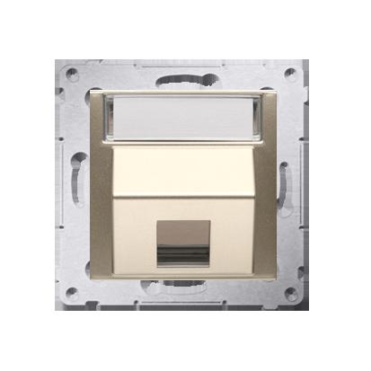 Abdeckung für Telefon- und Datensteckdose (Modul) 1fach gold matt DKP1S.01/44
