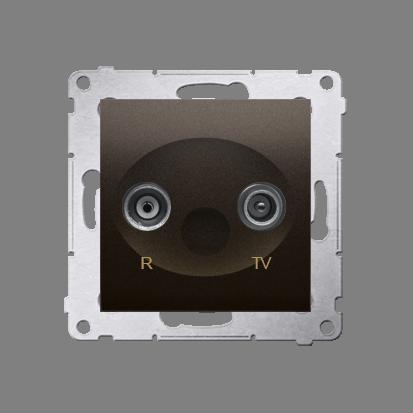 Antennendose R-TV Enddose braun matt Simon 54 Premium Kontakt Simon DAK.01/46