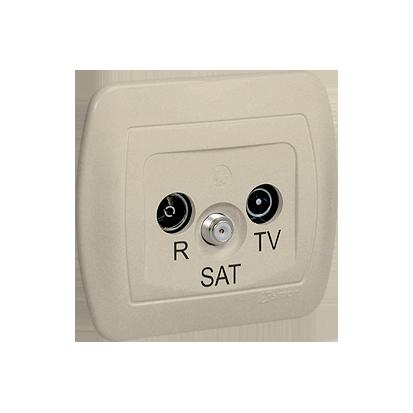 Antennensteckdose Enddose R-TV-SAT beige Kontakt Simon 82 AAS/12