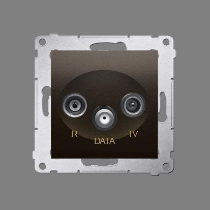 Antennensteckdose R-TV-DATA 10dB braun matt Simon 54 Premium Kontakt Simon DAD.01/46