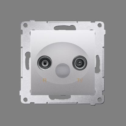Antennensteckdose R-TV Endsdose 10dB silber matt Kontakt Simon 54 Premium DAZ.01/43
