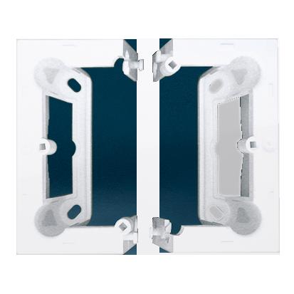 Aufbau-Gehäuse tief (40mm) 1Stück DSC/.. = 2 Elemente weiß Simon 54 Premium Kontakt Simon DSC/11
