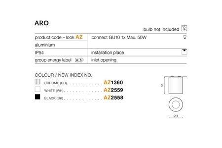 Aufbaustrahler ARO Modern Metall, Aluminium Weiß Azzardo AZ2559