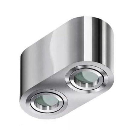 Aufbaustrahler BRANT 2 Modern Metall, Aluminium Chrom Azzardo AZ2817