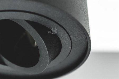 AufbaustrahlerDeckenspotleuchte 1 schwarz black 1xGU10 IP20 rund 1-flammig