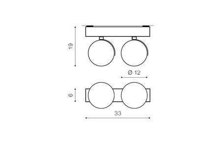 Aufbaustrahler JERRY 2 Modern Metall, Aluminium Weiß Azzardo AZ1371