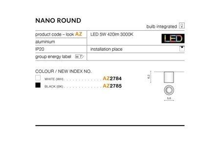 Aufbaustrahler NANO ROUND Modern Aluminium Schwarz Azzardo AZ2785