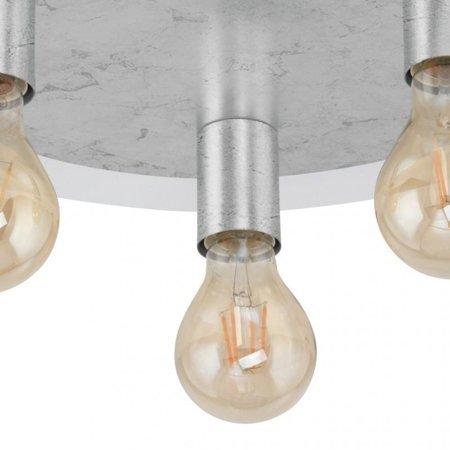 Aufputzlampe Deckenleuchte PASSANO silbern 3xE27 4W 3x 320lm 2200K 97495 EGLO