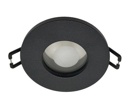 Deckeneinbauleuchte Deckenspot Einbaustrahler OPIL OV Black IP44 rund schwarz EDO777335 EDO