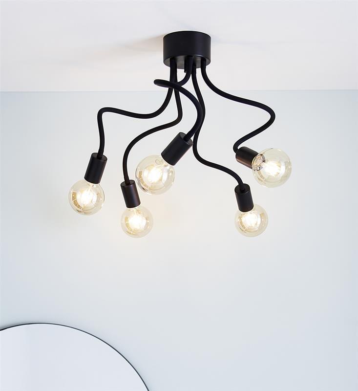 Deckenlampe schwarz MEDUSA 20W 5xE27 Markslojd 107931