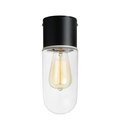 Deckenlampe schwarz durchsichtig ZEN 15W E27 IP44 Markslojd 107796