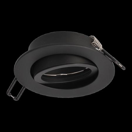 Deckenstrahler Einbaustrahler AKTYN 1 OV BLACK rund schwarz EDO777122 EDO
