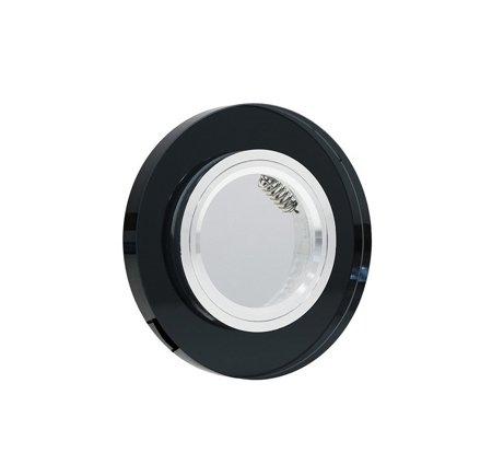 Deckenstrahler Einbaustrahler aus Glas dekorativ schwarz rund