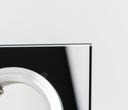 Deckenstrahler Einbaustrahler aus Glas schwarz eckig