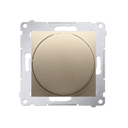 Dimmer mit Dreh-/Druckknopf gold matt Simon 54 Premium Kontakt Simon DS9T.01/44
