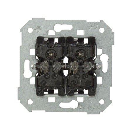 Doppel- Treppenschalter- Einsatz mit roter Linse 10AX Kontakt Simon 82 75394-39