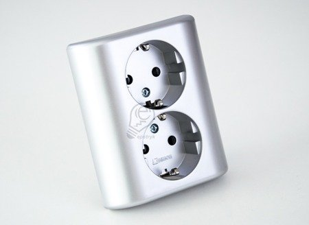 Doppelsteckdose SCHUKO silber matt Kontakt Simon 54 Premium EGSZ2PZ/43