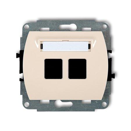 Doppelte Multimedia-Slot-Mechanismus ohne Modul (Keystone-Standard) beige 1GM-2P
