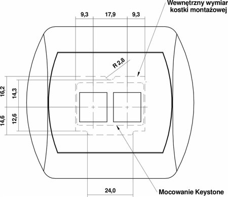 Doppelte Multimedia-Slot-Mechanismus ohne Modul (Keystone-Standard) weiß GM-2P