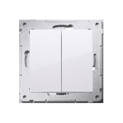 Doppelter Kerzenschalter (Modul) IP44 Schraubeklemmen Weiß Simon 54 Premium Kontakt Simon DW5B.01/11