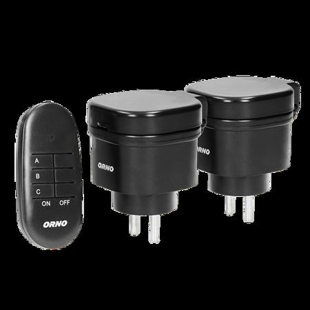 Drahltlose  Ministeckdosen-Set mit Fernbedingung 2+1, IP44 OR-GB-441 Orno