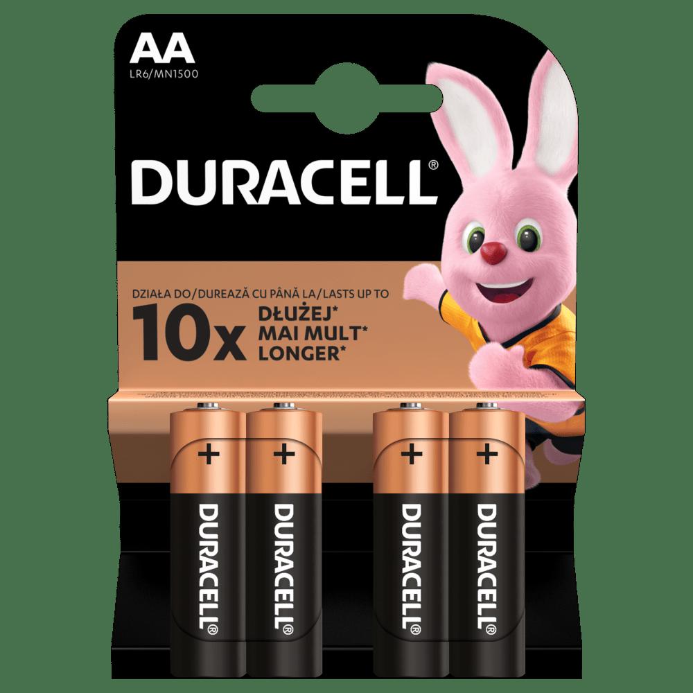 Duracell Alkaline-Batterien AA LR6 1,5V DURACELL Blister 4 Stück