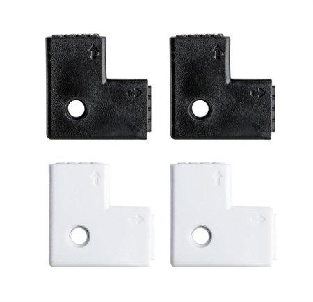 Eck-Verbinder 90° für Bänder LED YourLED 4 Stück weiß