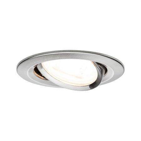 Einbauleuchte dimmbar schwenkbar LED Premium EBL Nova 7W GU10 gebürstetes Eisen