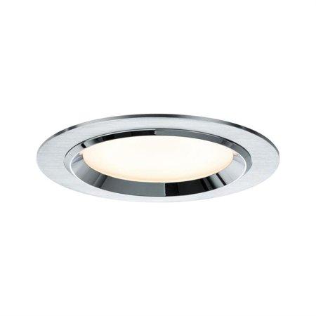 Einbauleuchte, rund LED Dot 3x8W weiß Aluminium gebürstet
