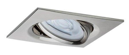 Einbauleuchte schwenkbar quadratisch dimmbar LED Set Premium EBL Nova 1x7W GU10 Eisen gebürstet