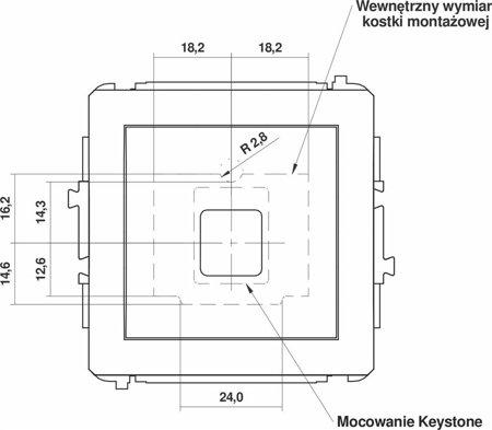Einzelner Multimedia-Slot-Mechanismus ohne Modul (Keystone-Standard) beige 1DGM-1P