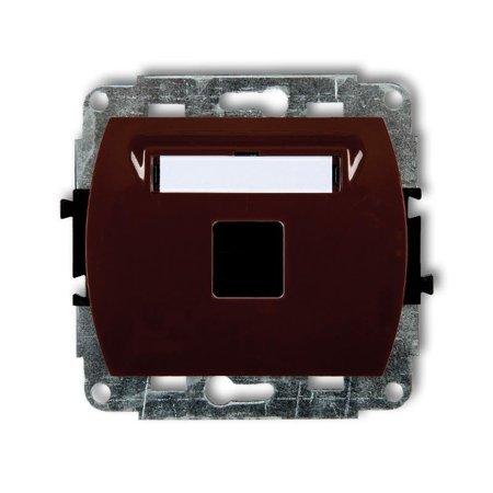 Einzelner Multimedia-Slot-Mechanismus ohne Modul (Keystone-Standard) braun 4GM-1P