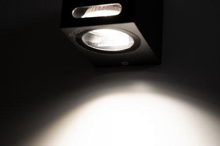 Gartenbeleuchtung Außenwandleuchte FESTRA 1 Black GU10 IP54 schwarz EDO777357 EDO Garden Line