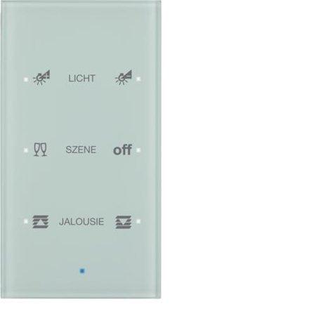 Glas-Sensor 3fach Komfort TS Sensor konfiguriert polarweiß Hager 75143930