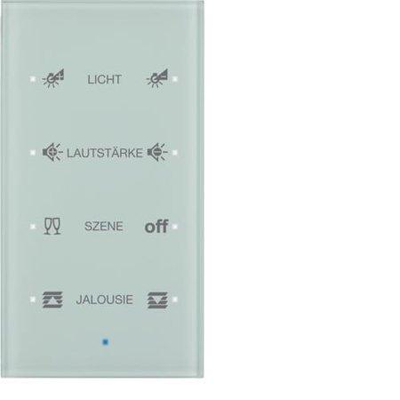 Glas-Sensor 4fach Komfort TS Sensor konfiguriert polarweiß Hager 75144930