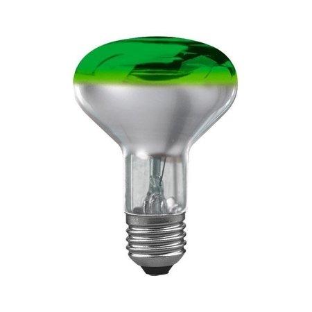 Glühbirne R80 E27 grün 60W 84lm