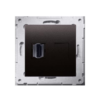 HDMI Anschlussdose Modul-Einsätze 1fach anthrazit matt Simon 54 Premium Kontakt Simon DGHDMI.01/48