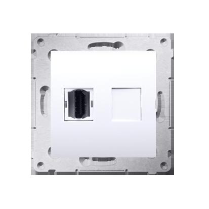 HDMI Anschlussdose Modul-Einsätze 1fach weiß Simon 54 Premium Kontakt Simon DGHDMI.01/11