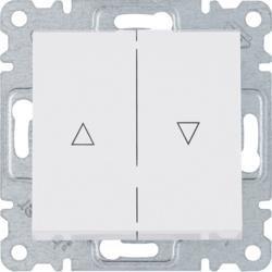 Jalousie Taster - bistabile, weiß WL0310 Lumina Hager