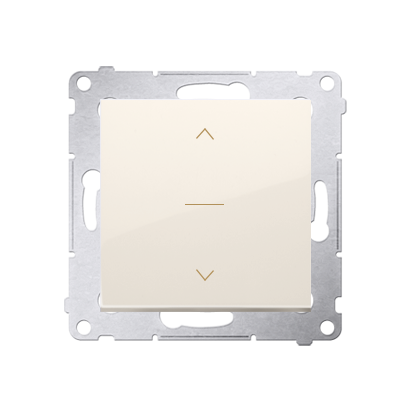 Jalousietaster 1polig mit Aufdruck 3 Positionen 0-1-2 cremeweiß Kontakt Simon 54 Premium DZW1K.01/41