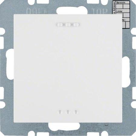 KNX CO2 Sensor mit Luftfeuchte- und Temperaturregler S.x/B.x polarweiß matt Hager 75441389