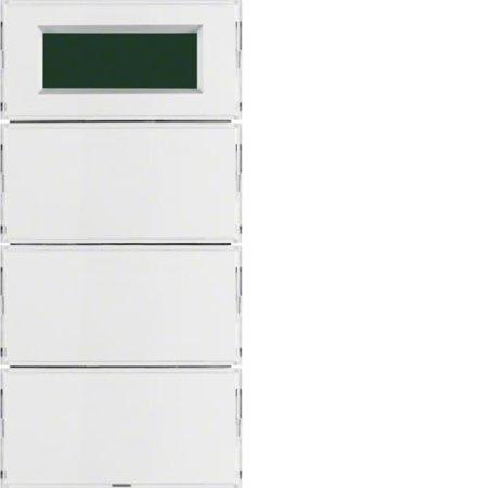 KNX system S.1/B.3/B.7 Tastsensor 3f. mit Temperaturregler und Anzeige, für weiße und cremige Rahmen Hager 75663780