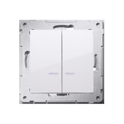 Kerzenschalter (Modul) 2x 1polig mit Beleuchtung LED IP44 Simon 54 Premium Kontakt Simon DW5BL.01/11