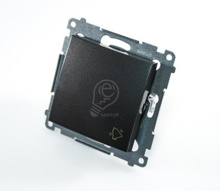 Klingeltaster(Modul) mit Aufdruck Steckklemmen Anthrazit Simon 54 Premium Kontakt Simon DD1.01/48