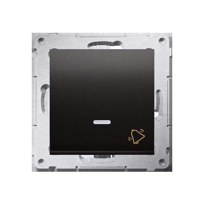 Klingeltaster(Modul) mit Aufdruck und LED Anthrazit Kontakt Simon 54 Premium DD1L.01/48