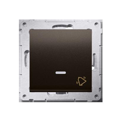 Klingeltaster(Modul) mit Aufdruck und LED Braun Kontakt Simon 54 Premium DD1L.01/46