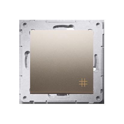 Kreuzschalter (Modul) mit Aufdruck  Steckklemmen Gold Simon 54 Premium Kontakt Simon DW7.01/44