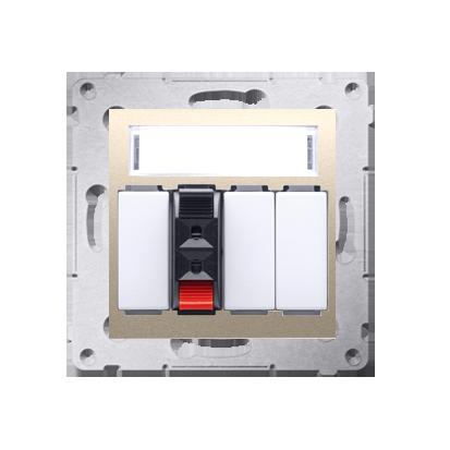 Lautsprecher Anschlussdose Modul-Einsätze 1fach gold Kontakt Simon 54 Premium DGL31.01/44