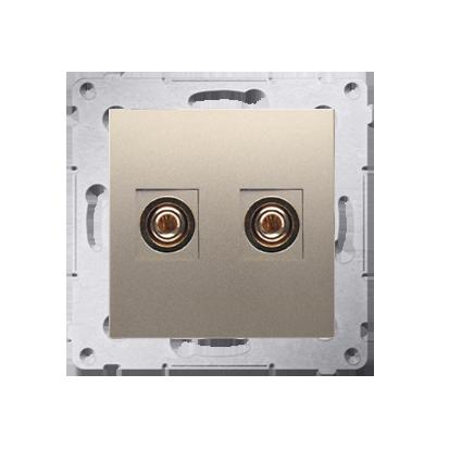 Lautsprecher Anschlussdose Modul-Einsätze 1fach gold matt Simon 54 Premium Kontakt Simon DGL2.01/44